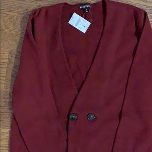 NWT Long burgundy jcrew factory cardigan
